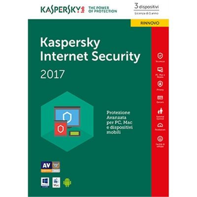 KASPERSKY INTERNET SECURITY 2017 3 PC